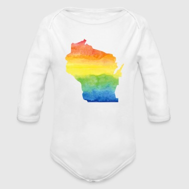 Water Color Shirt Wisconsin Home T Shirt - Long Sleeve Baby Bodysuit