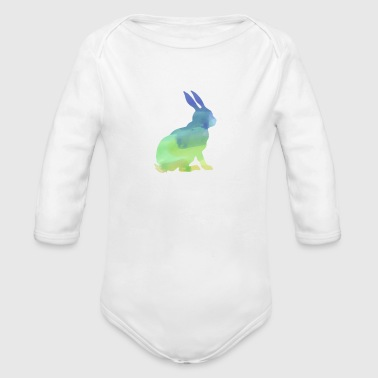 Florida White Rabbits Watercolor T Shirt Water Color Shirt - Long Sleeve Baby Bodysuit