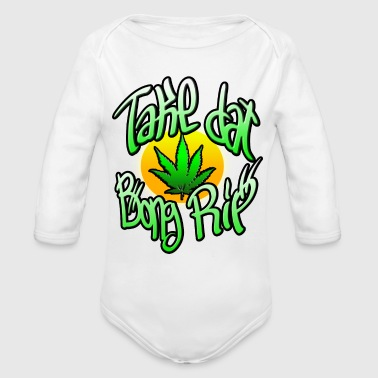 Bong Rip with Hemp leaf - Organic Long Sleeve Baby Bodysuit