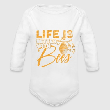 Bee - Organic Long Sleeve Baby Bodysuit