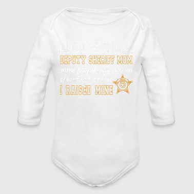 Sheriff Deputy Mom Deputy Sheriff Gifts Houston TX - Organic Long Sleeve Baby Bodysuit