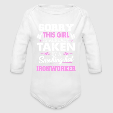 Ironworker Shirt Cool Gift for Girlfriend - Organic Long Sleeve Baby Bodysuit