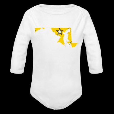 Maryland Army T Shirt Proud Army Dad Proud Army Mom Shirt - Organic Long Sleeve Baby Bodysuit