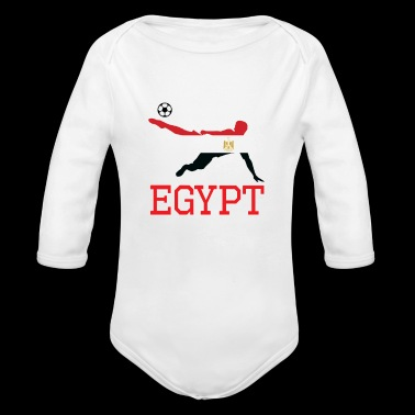 egypt soccer, #egypt - Organic Long Sleeve Baby Bodysuit