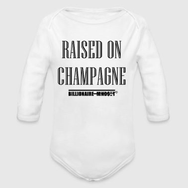 RAISED ON CHAMPAGNE - Long Sleeve Baby Bodysuit