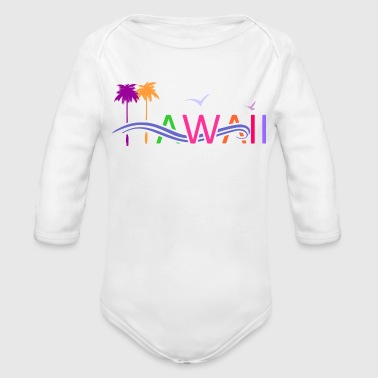 HAWAII - Organic Long Sleeve Baby Bodysuit
