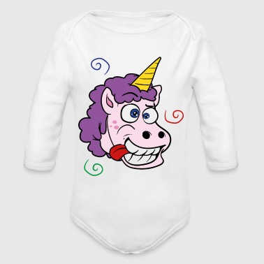 Crazy Unicorn - Organic Long Sleeve Baby Bodysuit