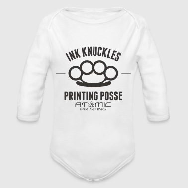 Ink Knuckles - Organic Long Sleeve Baby Bodysuit