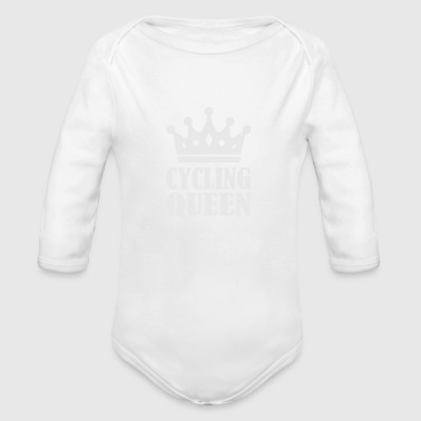 The Queen Crown Logo Funny - Organic Long Sleeve Baby Bodysuit