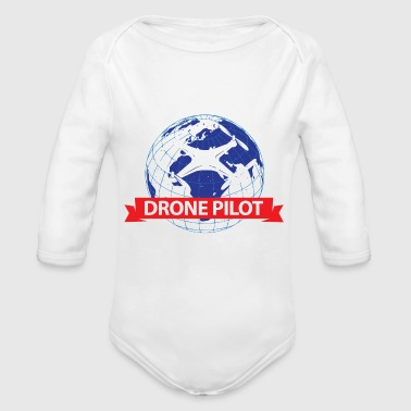 Certified Drone Pilot Gift - Organic Long Sleeve Baby Bodysuit