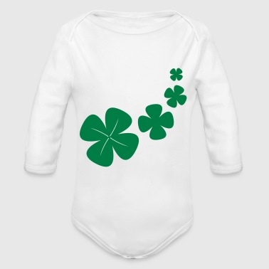 four-leaf clover as a lucky symbol - Long Sleeve Baby Bodysuit