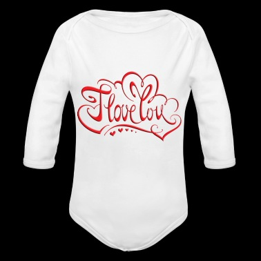love red - Organic Long Sleeve Baby Bodysuit