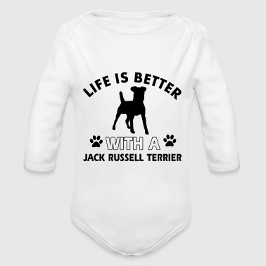JACK RUSSELL TERRIER DOG BREED - Long Sleeve Baby Bodysuit