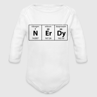 Nerdy periodic table - Organic Long Sleeve Baby Bodysuit