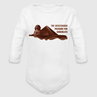 The Mysterious Passion For Chocolate - Organic Long Sleeve Baby Bodysuit
