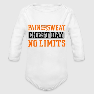 Funny Gym Workout Fitness Lifting Motivation Gift - Organic Long Sleeve Baby Bodysuit