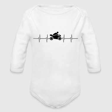 Motorcycle Biker Bike Gift Idea - Organic Long Sleeve Baby Bodysuit