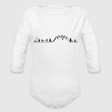 mountain bike MTB cycling mountain biker - Organic Long Sleeve Baby Bodysuit
