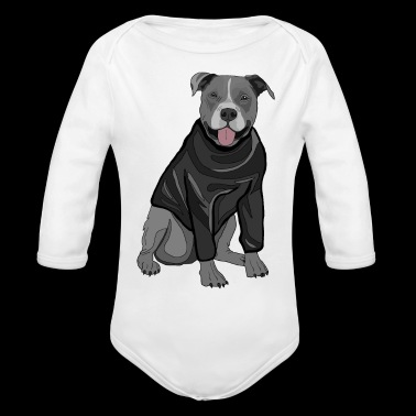 Sweet dog sweater dogs lover gift idea stafford - Organic Long Sleeve Baby Bodysuit