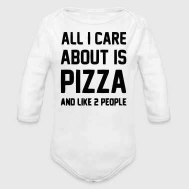 Pizza - Organic Long Sleeve Baby Bodysuit