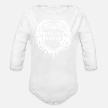 Coat-of-arms A grunge coat of arms with wings - Organic Long Sleeve Baby Bodysuit