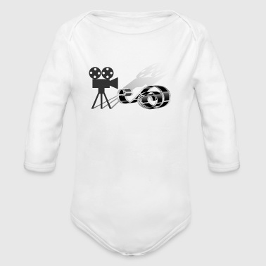 Film strip and film camera - Organic Long Sleeve Baby Bodysuit