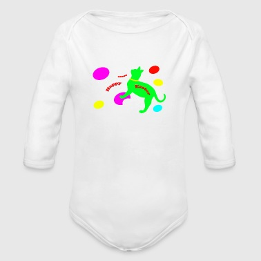 Shop cat easter gifts online spreadshirt cats easter 1 organic long sleeve baby bodysuit negle Choice Image