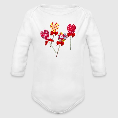 Candy - Organic Long Sleeve Baby Bodysuit