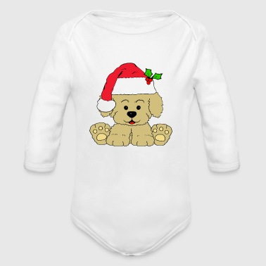 Christmas Puppy - Organic Long Sleeve Baby Bodysuit