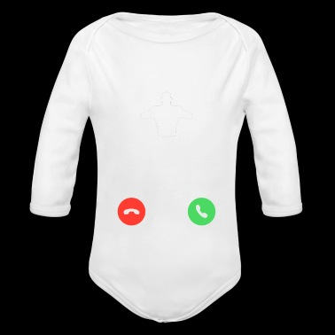 phone call chest workout sports bodybuilding bench - Long Sleeve Baby Bodysuit