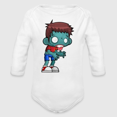 Zombie Boy loves videogames - Long Sleeve Baby Bodysuit