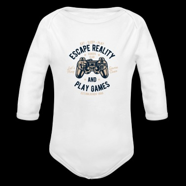 Escape Reality 2 - Organic Long Sleeve Baby Bodysuit