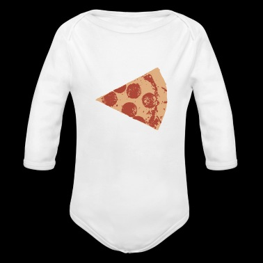 SALAMI PIZZA - Organic Long Sleeve Baby Bodysuit