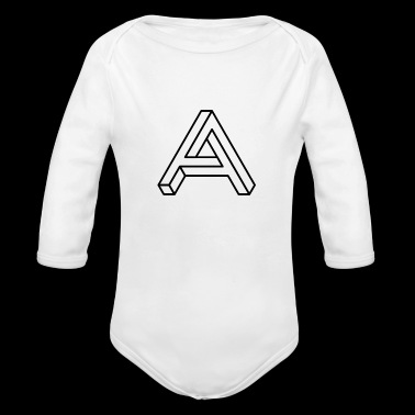 BLACK IMPOSSIBLE A - Organic Long Sleeve Baby Bodysuit