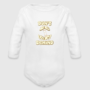 Don't Be Left Behind. Be a Cool Christian. - Organic Long Sleeve Baby Bodysuit