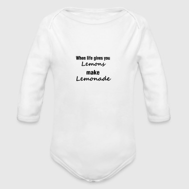 Lemonade - Organic Long Sleeve Baby Bodysuit