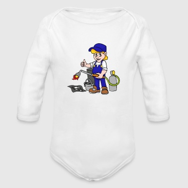 Roofer - Organic Long Sleeve Baby Bodysuit