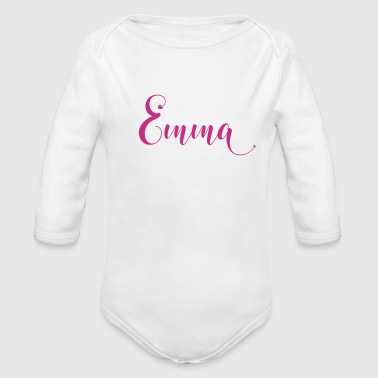 emma - Organic Long Sleeve Baby Bodysuit
