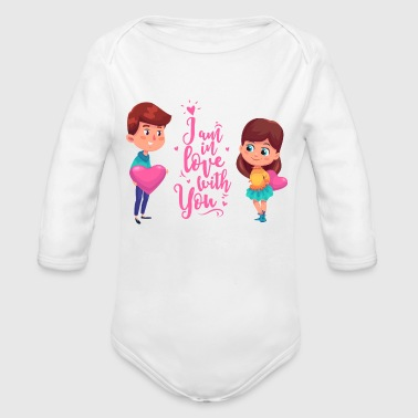 Valentine's Day Couple - Organic Long Sleeve Baby Bodysuit