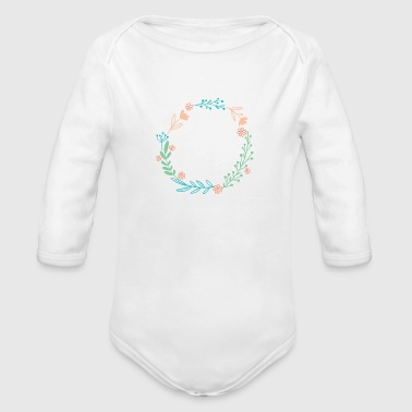 Flowers, Nature, Hearts, Love, Romance - Organic Long Sleeve Baby Bodysuit
