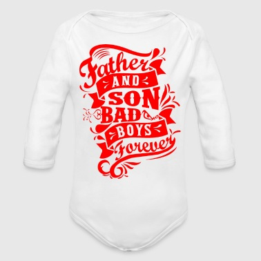 Father and Son Bad Boys - Organic Long Sleeve Baby Bodysuit