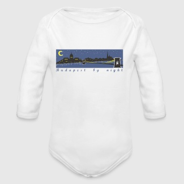 Budapest by night - Long Sleeve Baby Bodysuit