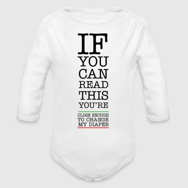 Diaper Change - Organic Long Sleeve Baby Bodysuit