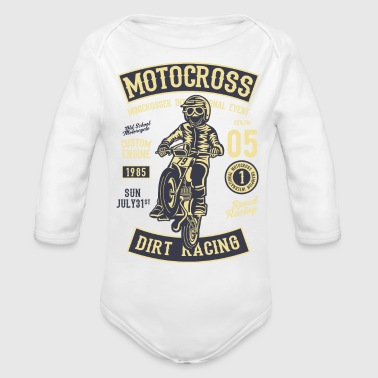 Moto Cross2 - Organic Long Sleeve Baby Bodysuit