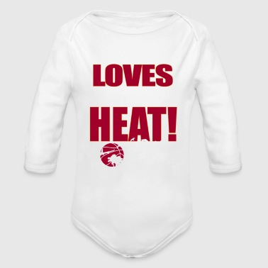 This girl loves the heat - Organic Long Sleeve Baby Bodysuit