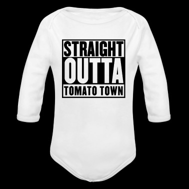 STRAIGHT OUTTA TOMATO TOWN - Long Sleeve Baby Bodysuit