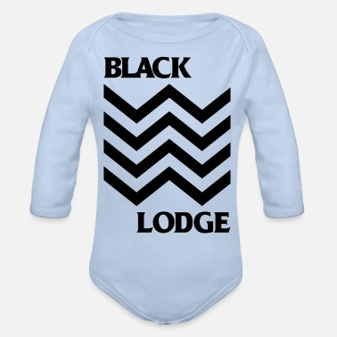 Lodge Black Lodge - Organic Long-Sleeved Baby Bodysuit