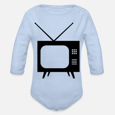 Tv Tv - Organic Long-Sleeved Baby Bodysuit