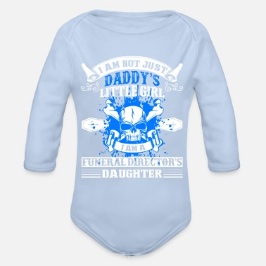 Daughter Funeral Director Daughter Shirt - Organic Long-Sleeved Baby Bodysuit