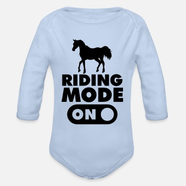 Gallop Riding Mode on Horse - Organic Long-Sleeved Baby Bodysuit